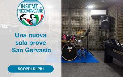 Una nuova sala prove a San Gervasio